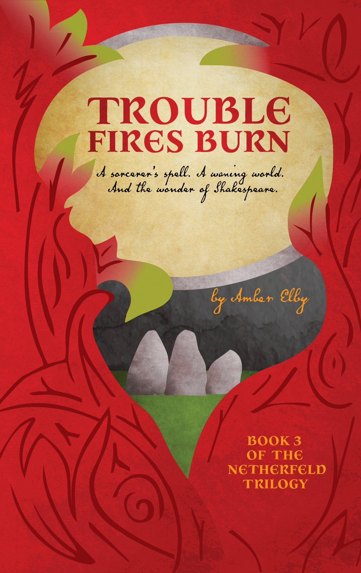Cover Reveal: Trouble Fires Burn (The Netherfeld Trilogy #3) by Amber Elby